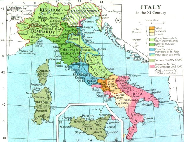 Internet history sourcebooks map italy in the 11th century gumiabroncs Image collections