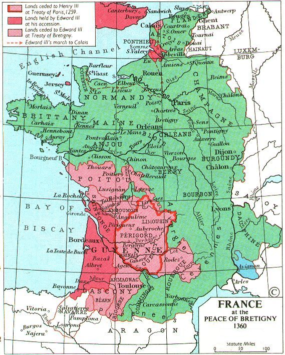 Map Of France In English.Whkmla Historical Atlas France Page