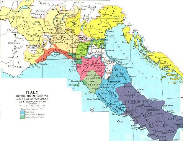Italy Map 1500.History Of Italy World Wide Web Virtual Library Italian History