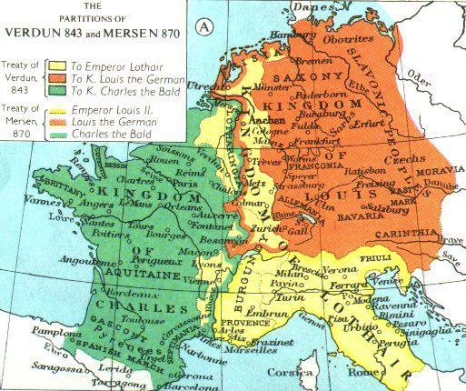karta tyskland italien Karl den store och den karolingiska renässansen karta tyskland italien
