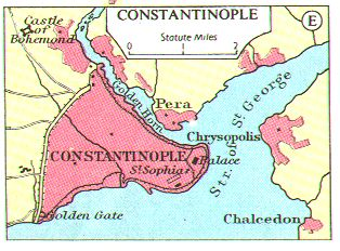 Medieval Atlas - Maps of Constantinople - Byzantine Capital City ...